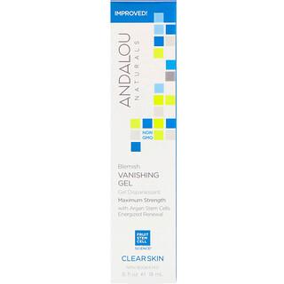 Andalou Naturals, Blemish Vanishing Gel, Maximum Strength, Clear Skin, .6 fl oz (18 ml)