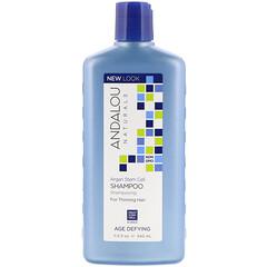Andalou Naturals, 抵禦衰老洗髮水,適用於頭髮稀疏,摩洛哥堅果多功能細胞,11.5 液量盎司(340 毫升)