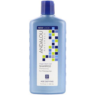 Andalou Naturals, Shampoo, Age Defying, For Thinning Hair, Argan Stem Cell, 11.5 fl oz (340 ml)