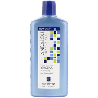 Andalou Naturals, шампунь, антивозрастной, от выпадения волос, стволовые клетки арганы, 340мл (11,5жидк.унций)
