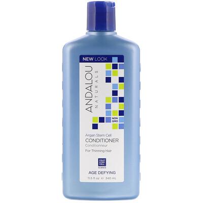 Купить Andalou Naturals Кондиционер, против старения, для редеющих волос, со стволовыми клетками аргании, 340 мл (11, 5 жидкой унции)