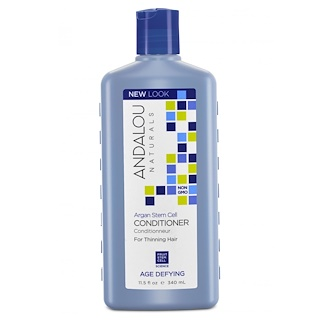Andalou Naturals, Conditioner,Age Defying, For Thinning Hair, Argan Stem Cells, 11.5 fl oz (340 ml)