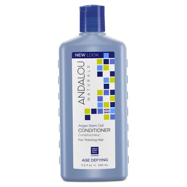 Andalou Naturals, コンディショナー、年齢による衰えを感じさせない、薄い髪用、アルガンステムセル、11.5 fl oz (340 ml)