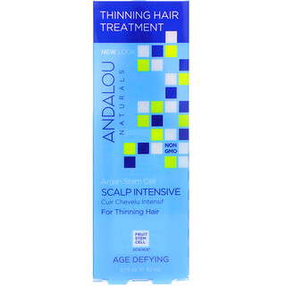 Andalou Naturals, Argan Stem Cells, Scalp Intensive, Thinning Hair Treatment, Age Defying, 2.1 fl oz (62 ml)