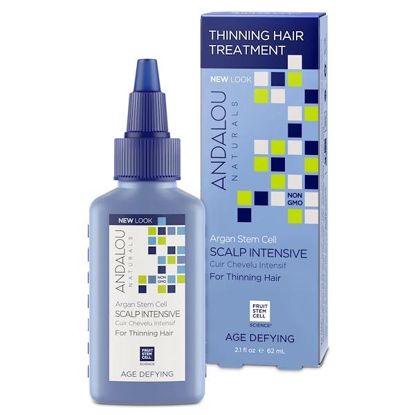 Andalou Naturals, Argan Stem Cells, Scalp Intensive, Thinning Hair Treatment, Age Defying, 2.1 fl oz (62 ml)