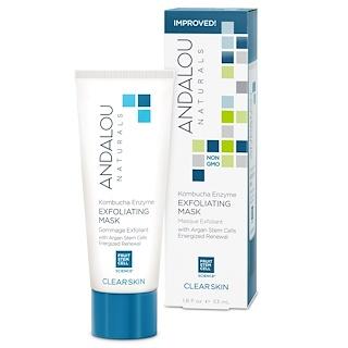 Andalou Naturals, Exfoliating Mask, Kombucha Enzyme, Clear Skin, 1.8 fl oz (53 ml)