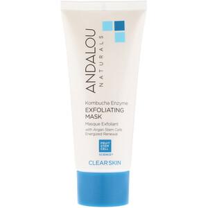 Андалу Натуралс, Exfoliating Mask, Kombucha Enzyme, Clear Skin, 1.8 fl oz (53 ml) отзывы