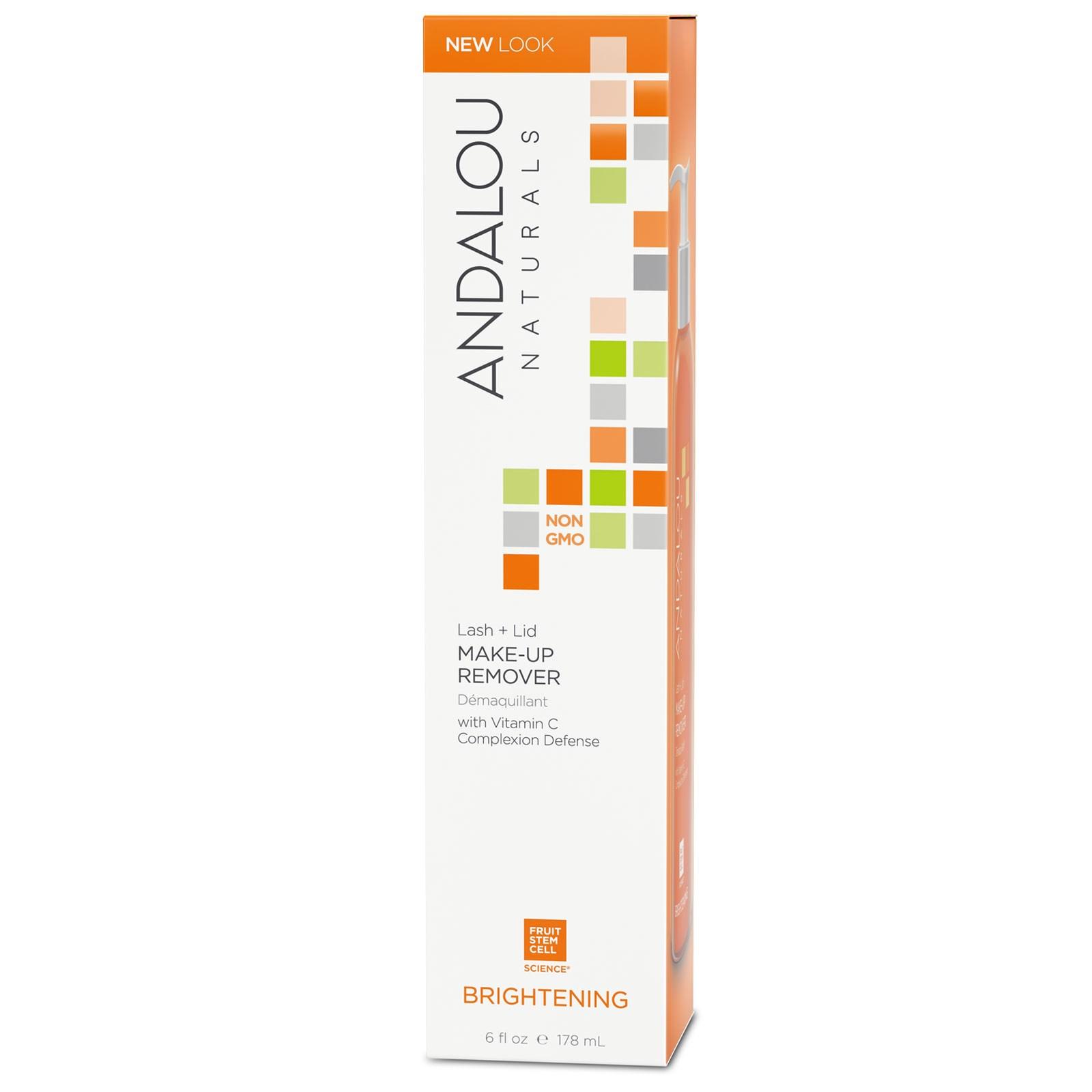 Andalou Naturals, Средство для снятия макияжа с ресниц и век, осветляющее, 6 жидких унций (178 мл)