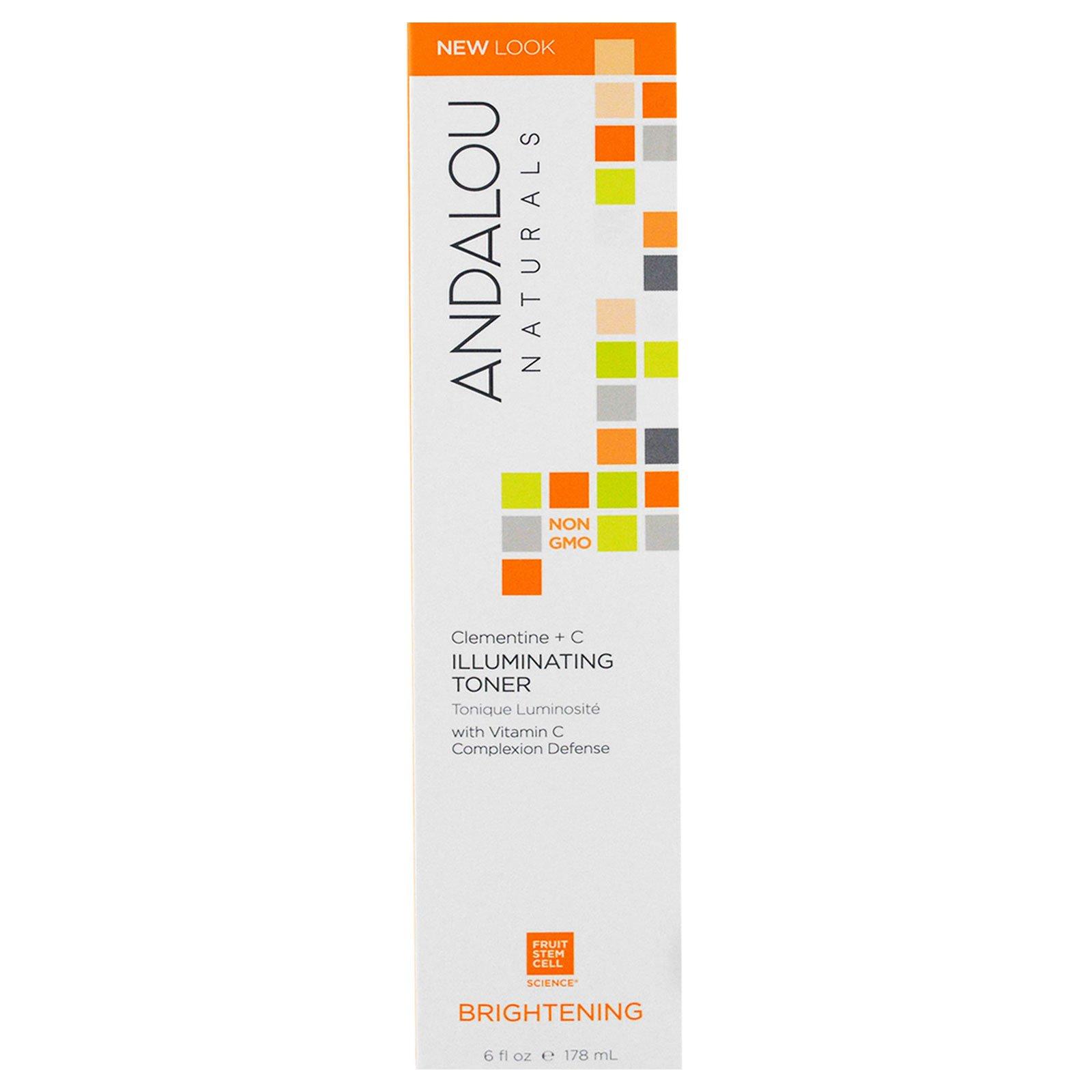 Andalou Naturals, Тоник, придающий коже сияние, Клементины и витамин С, 6 жидких унций (178 мл)