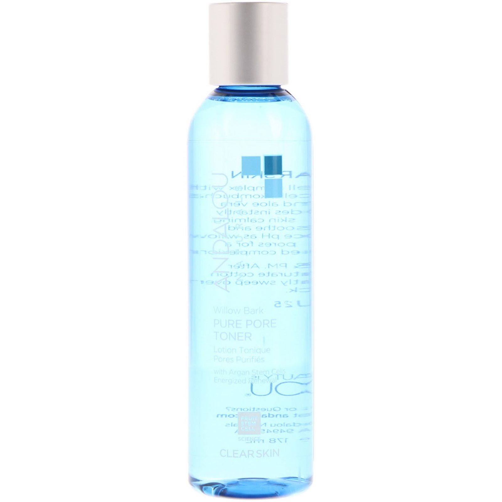 Will Bark Pure Pore Toner - 6 oz. by Andalou Naturals (pack of 3) Bliss - Clog Dissolving Cleansing Milk - 473ml/16oz