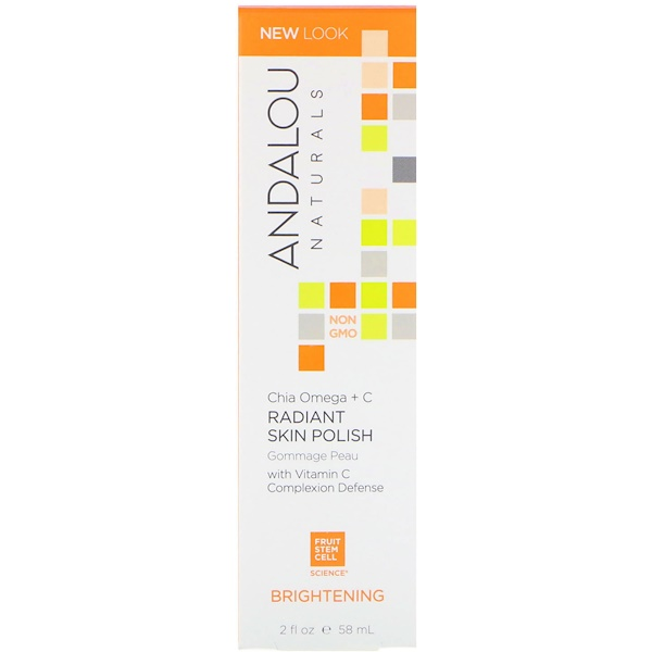Andalou Naturals, Radiant Skin Polish, Chia + Omega, Brightening, 2 fl oz (58 ml) (Discontinued Item)