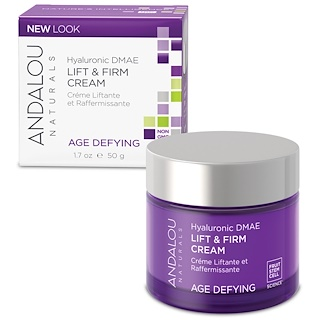 Andalou Naturals, Crème liftante Lift & Firm, DMAE hyaluronique, 50 ml.