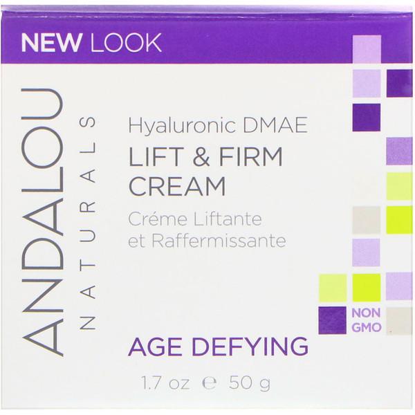 Andalou Naturals, Andalou Naturals,緊膚霜,透明質酸 DMAE 1、7,液量盎司(50 毫升)
