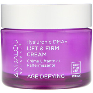 Андалу Натуралс, Lift & Firm Cream, Hyaluronic DMAE, 1.7 oz (50 g) отзывы покупателей