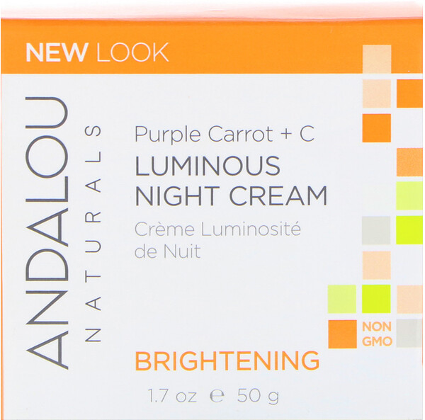 Luminous Night Cream, Purple Carrot + C, Brightening, 1.7 fl oz (50 ml)