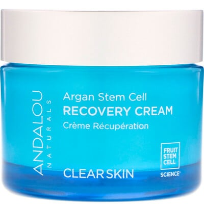 Купить Andalou Naturals Восстанавливающий крем со стволовыми клетками аргании, очистка кожи, 50 мл (1, 7 жидкой унции)