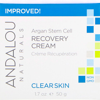 Andalou Naturals, Argan Stem Cell Recovery Cream, Clearer Skin, 1.7 fl oz (50 ml)