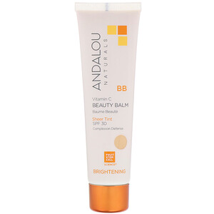 Андалу Натуралс, BB Vitamin C Beauty Balm, Brightening, SPF 30, Sheer Tint, 2 fl oz (58 ml) отзывы покупателей