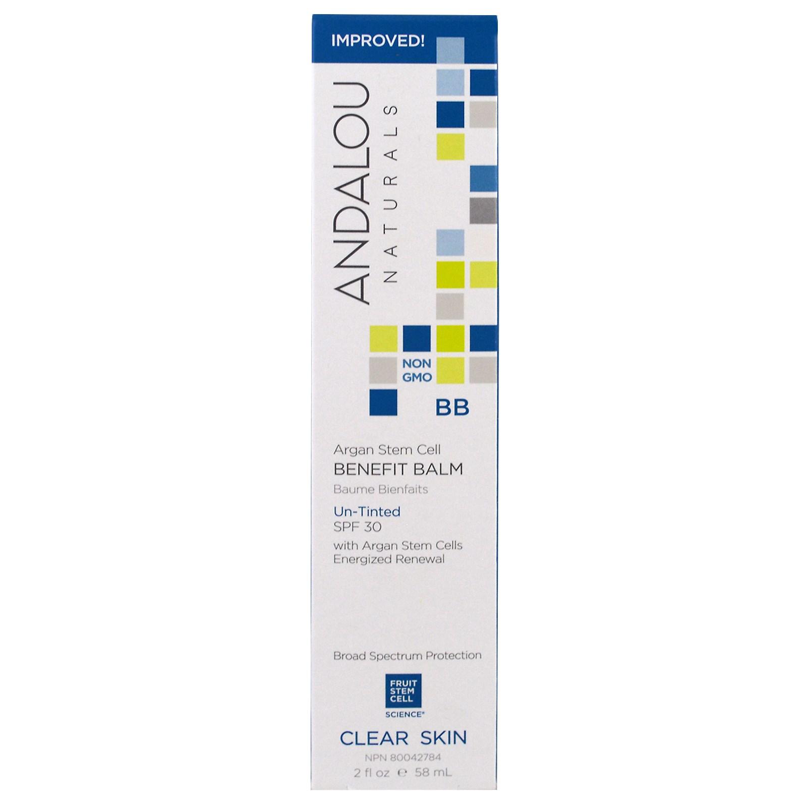 Andalou Naturals Oil Control Clarifying Beauty Balm Un Tinted Spf