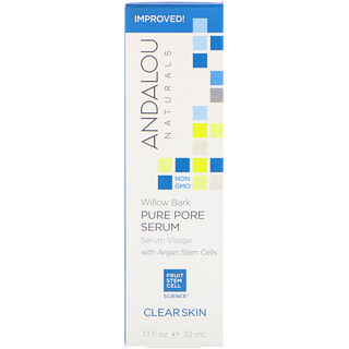 Andalou Naturals, Pure Pore Serum, Clear Skin, Willow Bark, 1.1 fl oz (32 ml)