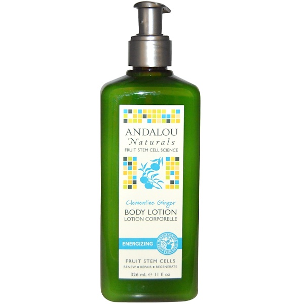 Andalou Naturals, Clementine Ginger Energizing Body Lotion, 11 fl oz (326 ml) (Discontinued Item)