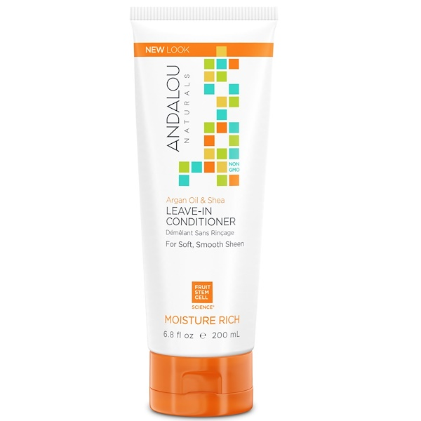 Andalou Naturals, 免洗護髮素,堅果油和乳木果,補水滋潤,6、8液體盎司(200毫升)