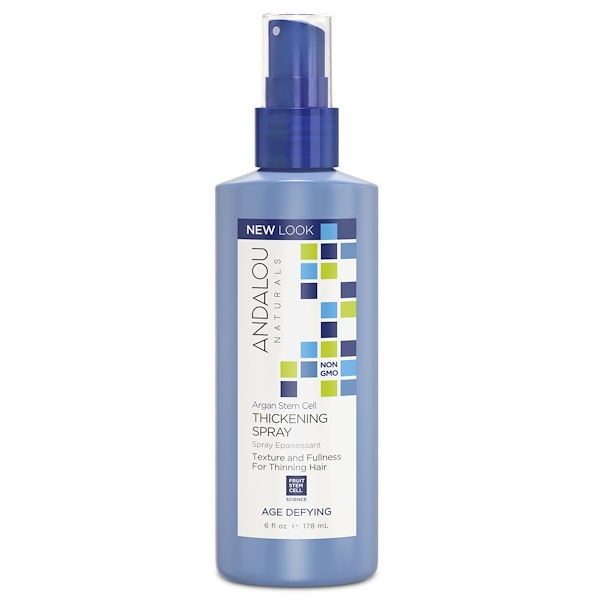 Andalou Naturals, アルガン幹細胞増毛スプレー、若返り、 6 fl oz (178 ml)