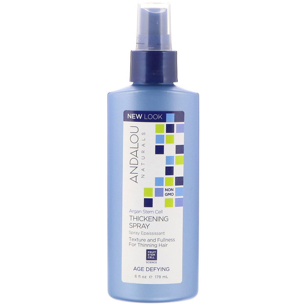 Andalou Naturals, Argan Stem Cell Thickening Spray, Age Defying, 6 fl oz (178 ml) (Discontinued Item)