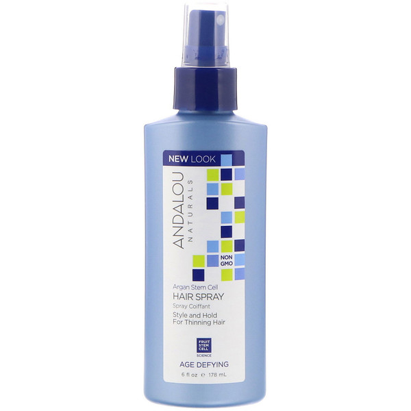 Andalou Naturals, Argan Stem Cells Hair Spray, Age Defying, 6 fl oz (178 ml)