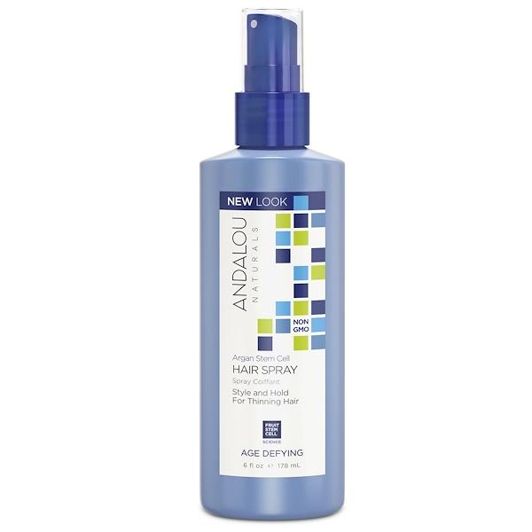 Andalou Naturals, 摩洛哥堅果乾細胞髮膠,抗衰老,6液量盎司(178毫升)