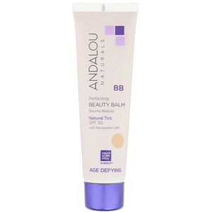 Андалу Натуралс, BB Perfecting Beauty Balm, Age Defying, SPF 30, Natural Tint, 2 fl oz (58 ml) отзывы покупателей