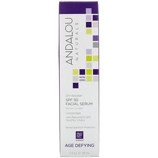 Andalou Naturals, Сыворотка для лица, SPF 30, предотвращает старение, без запаха, 2 жидк. унц. (58 мл)