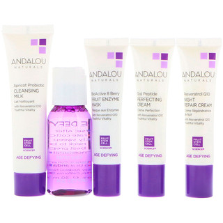 Andalou Naturals, Get Started, Age Defying, Skin Care Essentials, 5 Piece Kit