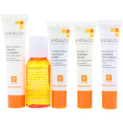 Купить Andalou Naturals Get Started Brightening, набор средств для ухода за кожей из 5 предметов