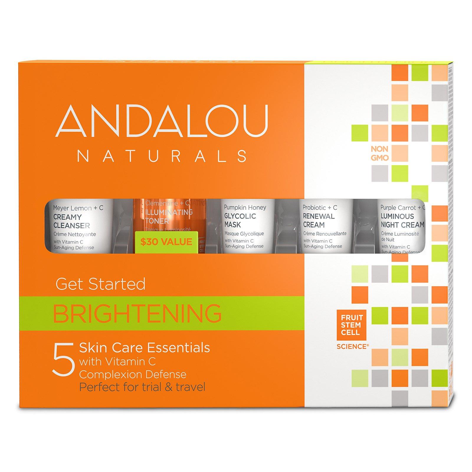 Andalou Naturals, Начни сиять, уход за кожей, 5 предметов в наборе