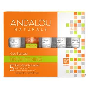 Andalou Naturals, Начни сиять, уход за кожей, 5 предметов в наборе инструкция, применение, состав, противопоказания