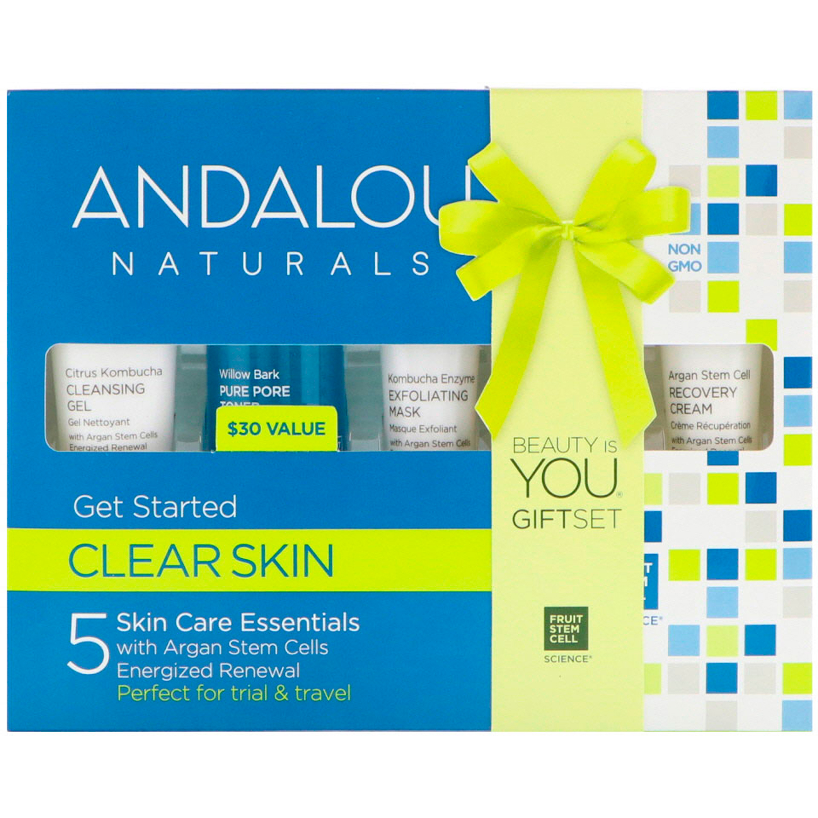 Andalou Naturals, Get Started Clarifying, Skin Care Essentials, 5 Piece Kit(pack of 4) Peter Thomas Roth Strawberry Scrub Fruit Enzyme Polisher 8.5 oz.