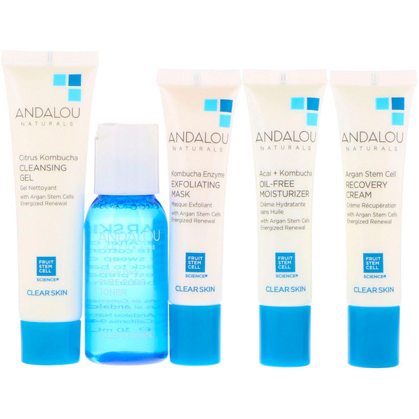 Andalou Naturals, Get Started Clarifying, Skin Care Essentials, 5 Piece Kit