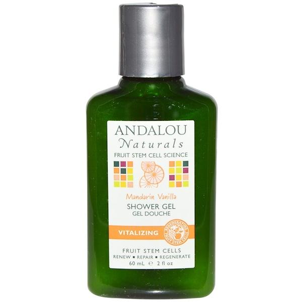 Andalou Naturals, シャワージェル, マンダリンバニラ, 2 液量オンス (60 ml) (Discontinued Item)