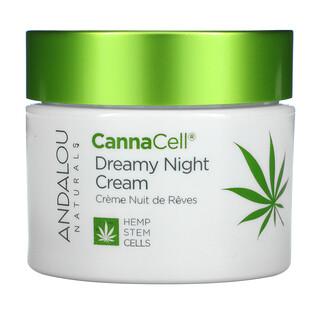 Andalou Naturals, CannaCell, Dreamy Night Cream, 1.7 oz (50 g)