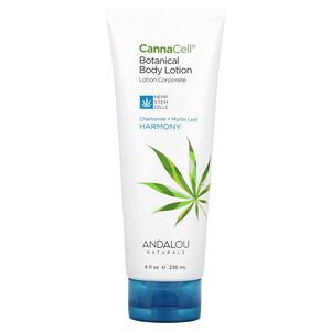 Andalou Naturals, CannaCell, Botanical Body Lotion, Chamomile + Myrtle Leaf,  8 fl oz (236 ml)