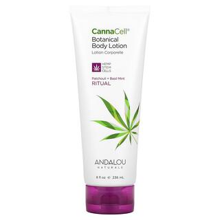 Andalou Naturals, CannaCell, Botanical Body Lotion, Ritual, Patchouli + Basil Mint, 8 fl oz (236 ml)