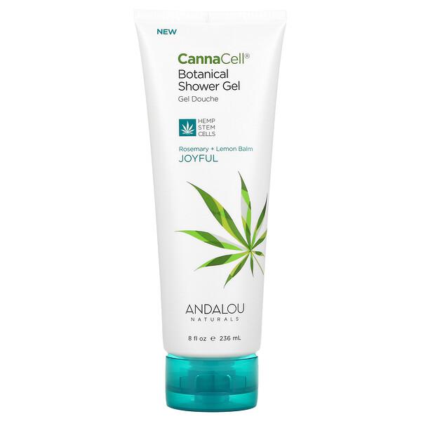 CannaCell, Botanical Shower Gel, Rosemary + Lemon Balm, 8 fl oz (236 ml)