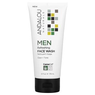 Andalou Naturals, CannaCell, Men, Refreshing Face Wash, 6 fl oz (178 ml)