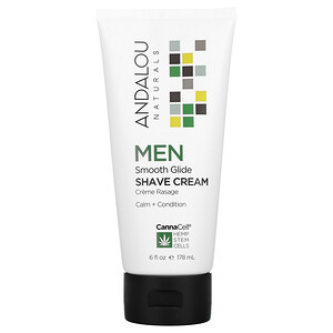 Andalou Naturals, CannaCell, Men, Smooth Glide Shave Cream, 6 fl oz (178 ml)