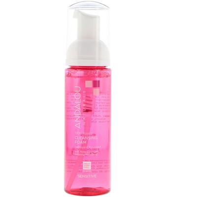 Купить Andalou Naturals Очищающая пенка для чувствительной кожи, 1000 роз, 5.5 жидких унций (163 мл)