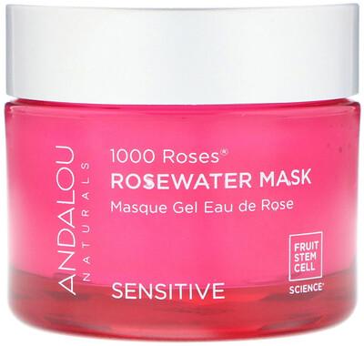 Купить Andalou Naturals 1000 Roses, маска с розовой водой, для чувствительной кожи, 50 г (1, 7 унции)