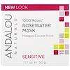 Andalou Naturals, 1000 Roses, Rosewater Mask, Sensitive, 1.7 oz (50 g)