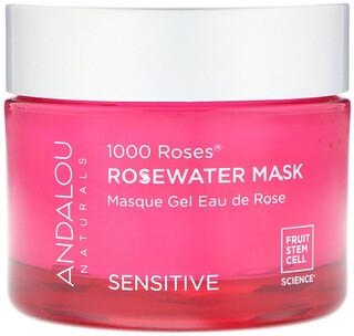 Andalou Naturals, 1000 Roses, Rosewater Beauty Mask, Sensitive, 1.7 oz (50 g)