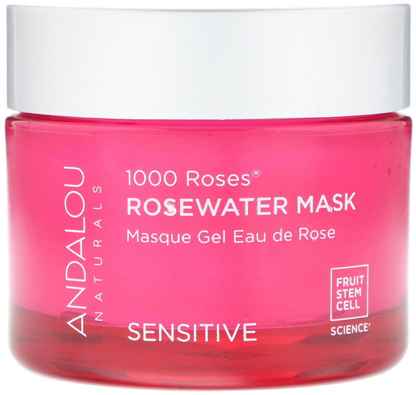 Andalou Naturals, 1000 Roses, Rosewater Beauty Mask, Sensitive, 1.7 oz (50 g)